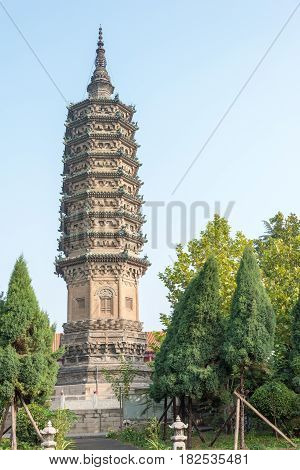 Hebei, China - Oct 23 2015: Linji Temple. A Famous Historic Site In Zhengding, Hebei, China.