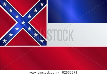 The flag of the USA state of Mississippi