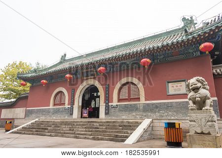 Hebei, China - Oct 23 2015: Zhaoyun Temple. A Famous Historic Site In Zhengding, Hebei, China.