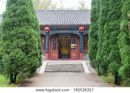 Hebei, China - Oct 23 2015: Four Righteousness Hall At Zhaoyun Temple. A Famous Historic Site In Zhe