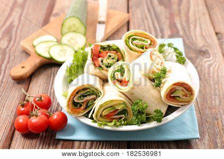 sandwich wrap,burrito