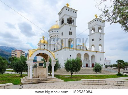 Cathedral Church of St. John of Vladimir and chapel-source in Bar Montenegro