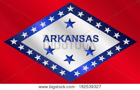 The state flag of the USA state of Arkansas