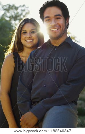 Hispanic couple posing