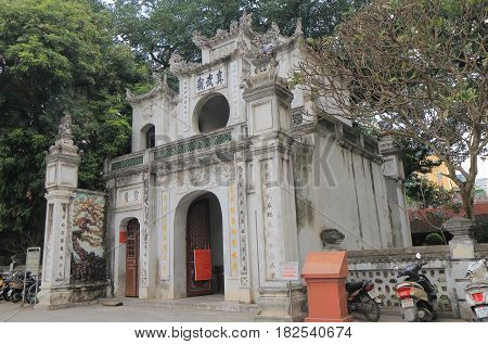 HANOI VIETNAM - NOVEMBER 23, 2016: Quan Thanh Temple. Quan Thanh Temple is a Taoist temple dated to the 11th century.