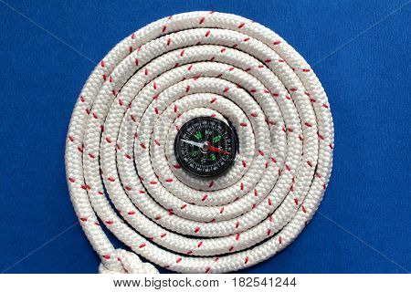 the Coil of Rope and magnetic compass