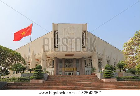 HANOI VIETNAM - NOVEMBER 23, 2016: Ho Chi Minh Museum. Ho Chi Minh Museum is dedicated to the late Vietnamese leader Ho Chi Minh and Vietnam's revolutionary struggle against foreign powers.