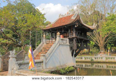 One Pillar Pagoda temple in Hanoi Vietnam