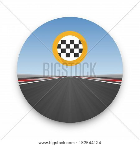 Track road to infinity, Road vector highway , Vector illustration, speedway background.