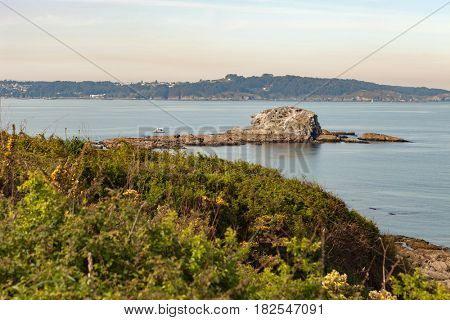 Islet on the northwest coast of Spain