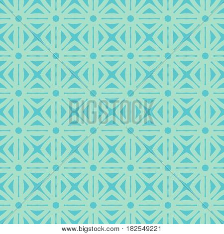 Geometric trellis pattern. Blue seamless background. Screen print vector texture. Website textured pattern. Trellis seamless background. Vector seamless repeating pattern for interior design