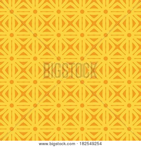 Geometric trellis pattern. Yellow seamless background. Screen print vector texture. Website textured pattern. Trellis seamless background. Vector seamless repeating pattern for interior design