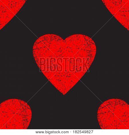 Vector seamless pattern element. Valentine's day grunge pattern. Love pattern. Elegant pattern for your tender design.