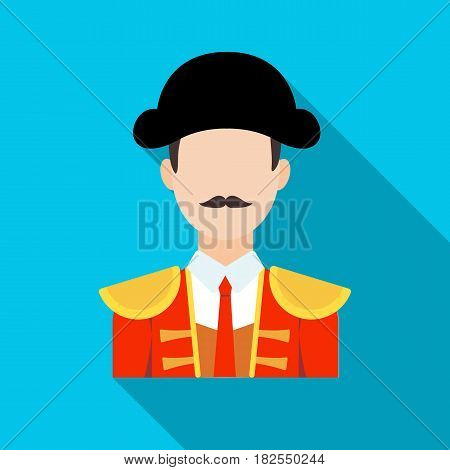 Matador icon in flate design isolated on white background. Spain country symbol stock vector illustration.