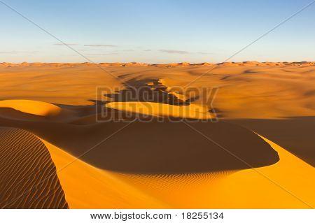 Sand Dunes At Sunset - Murzuq Desert, Sahara, Libya