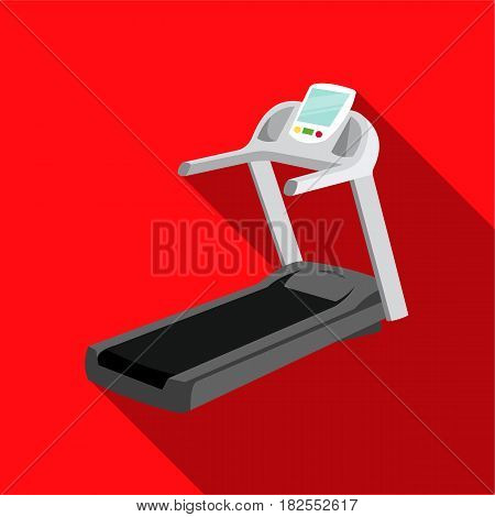 Treadmill icon flate. Single sport icon from the big fitness, healthy, workout flate.