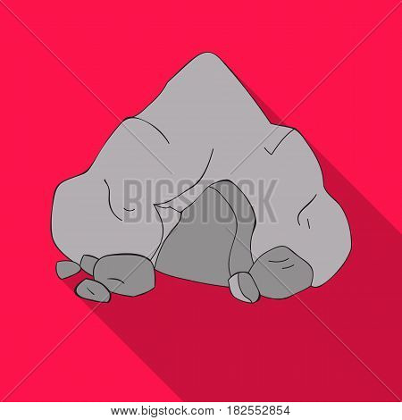 Cave icon in flate style isolated on white background. Stone age symbol vector illustration.
