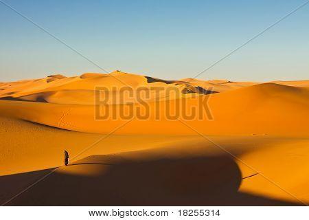Lone Man - Murzuq Desert, Sahara, Libya