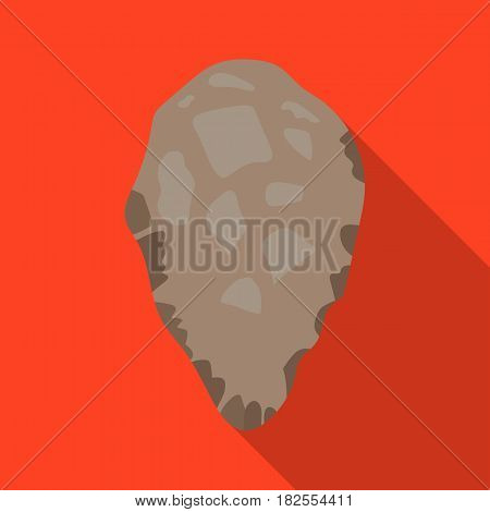 Stone tool icon in flate style isolated on white background. Stone age symbol vector illustration.