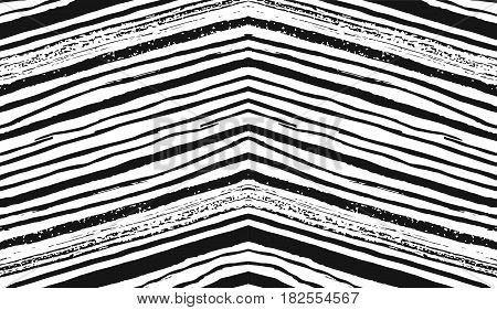 Vector hand drawn ink pattern of grunge brush strokes isolated on white background.Painted pattern