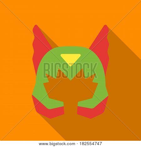 Superhero's helmet icon in flate style isolated on white background. Superhero's mask symbol vector illustration.