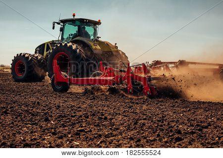 Preparing a farmland for the next year.