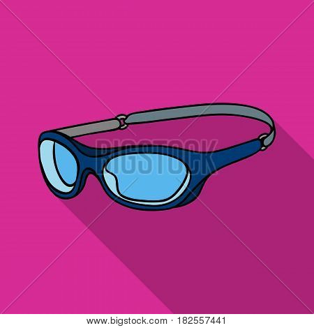 Glasses for swimming icon in flate design isolated on white background. Surfing symbol stock vector illustration.