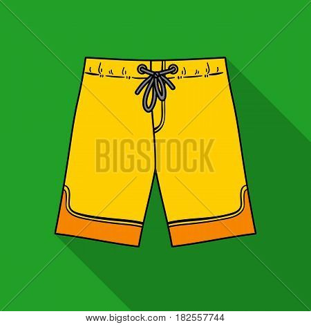 Swimming trunks icon in flate design isolated on white background. Surfing symbol stock vector illustration.