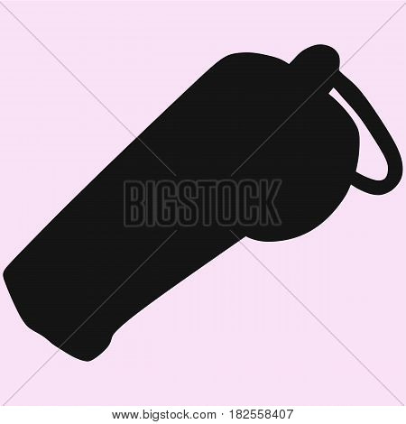 whistle vector black silhouette isolated on background