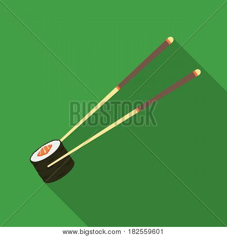 Chopsticks icon in flate style isolated on white background. Sushi symbol vector illustration.