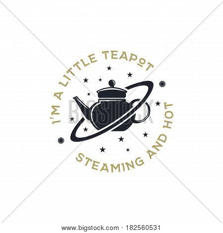 Vintage science poster and background with Russell s teapot and typography elements. Science background theme. Retro colors style. Vector illustration of science background or old style poster.