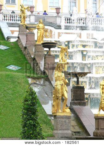 Fountains In Peterhof