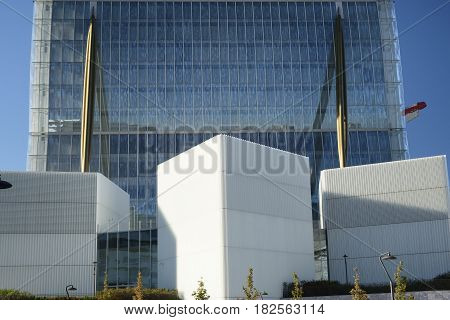MILAN, ITALY - OCTOBER 4, 2016: Milan (Lombardy Italy): skyscraper known as Allianz Tower one of the three towers in Citylife