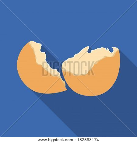 Broken eggshell icon in flate style isolated on white background. Trash and garbage symbol vector illustration.