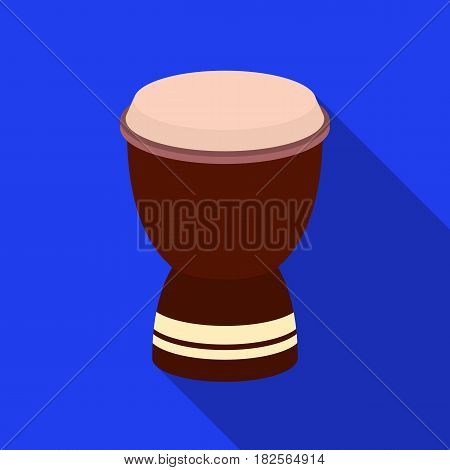 Goblet drum icon in flate style isolated on white background. Turkey symbol vector illustration.
