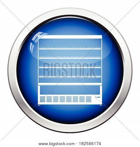 Supermarket Refrigerator Showcase Icon