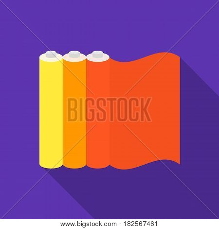 Color printing paper in flate style isolated on white background. Typography symbol vector illustration.