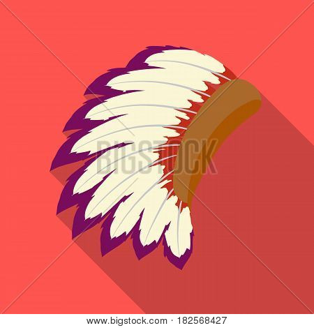 War bonnet icon in flate style isolated on white background. USA country symbol vector illustration.