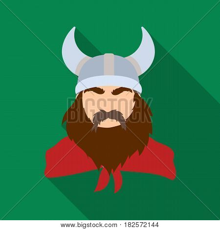 Viking icon in flate design isolated on white background. Vikings symbol stock vector illustration.