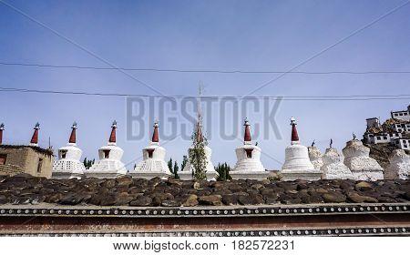 Detail Of Tibetan Buddhist Temple In Ladakh, India