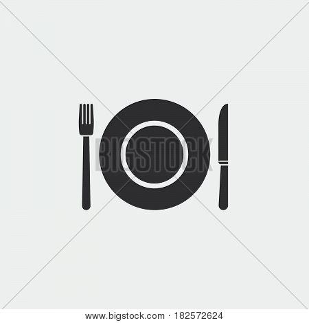 dishware icon isolated on white background .