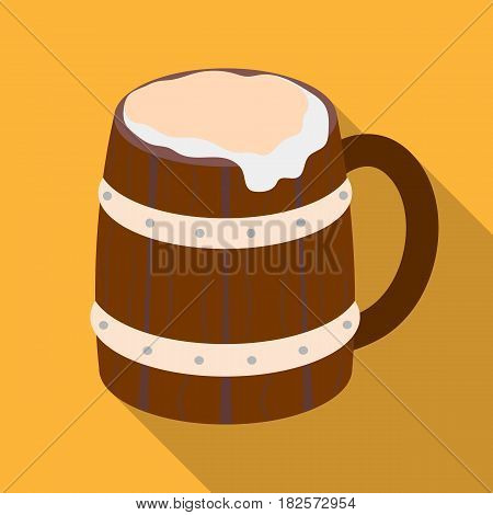 Viking ale icon in flate design isolated on white background. Vikings symbol stock vector illustration.