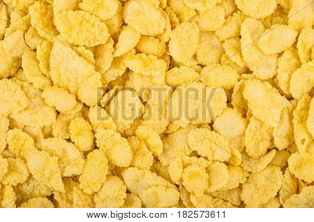 Background From Heap Of Yellow Corn Flakes