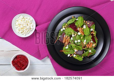 Fresh Delicious Healthy Dietary Salad, Top View