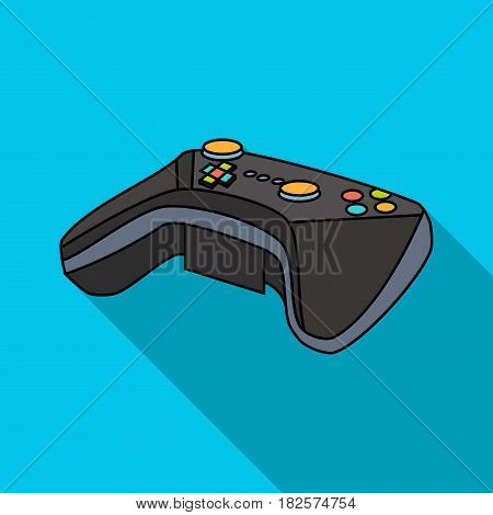 Game controller for the virtual reality icon in flate style isolated on white background. Virtual reality symbol vector illustration.