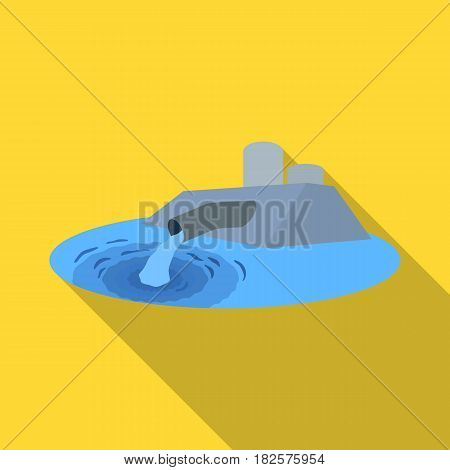Water treatment plant icon in flate design isolated on white background. Water filtration system symbol stock vector illustration.