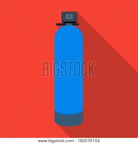 Water filter machine icon in flate design isolated on white background. Water filtration system symbol stock vector illustration.