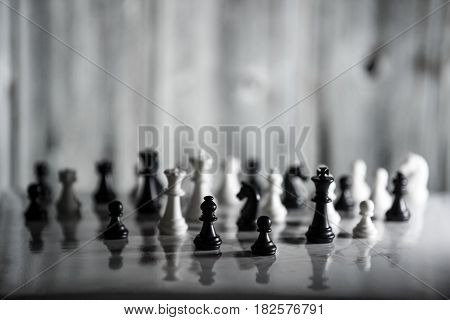 Chess Strategy Concept Is On The Bright Background