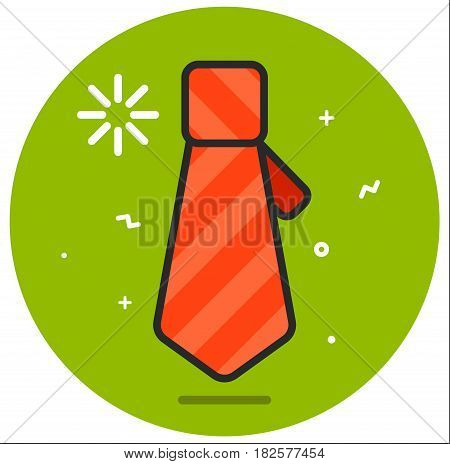 Icon tie illustration flat design art rasterized