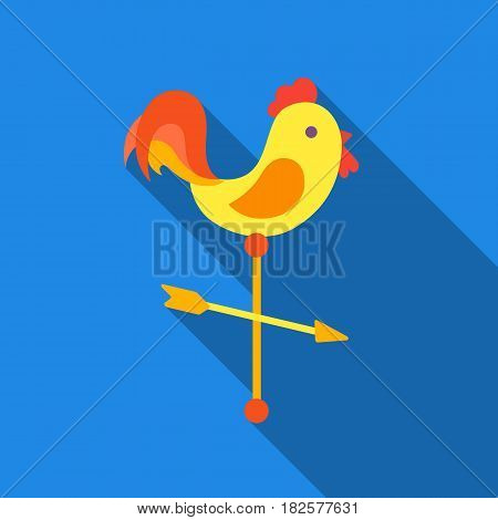 Weather vane icon in flate style isolated on white background. Weather symbol vector illustration.